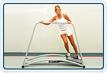 Ski simulation improves balance and enhances core strength for physical therapy patients